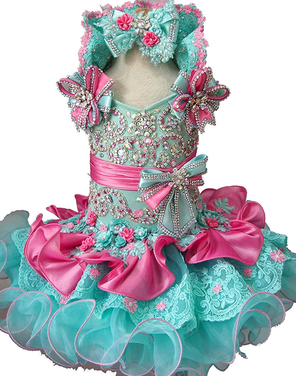 Jenniferwu Infant Toddler Baby Newborn Little Girls Pageant Party Birthday Dress G015A Custom Make from Size 1 to Size 7