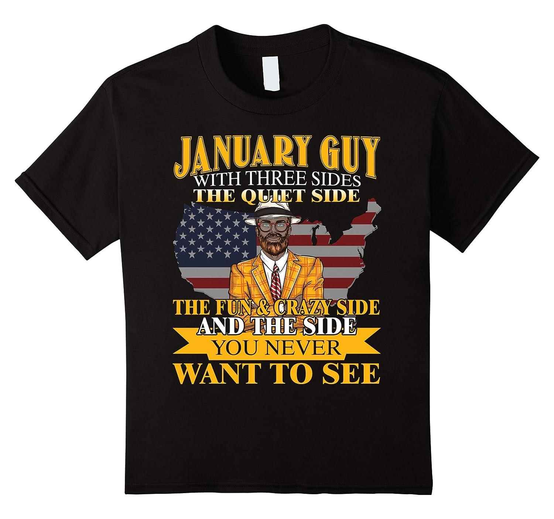 Mens January Funny Birthday T Shirt-Tovacu