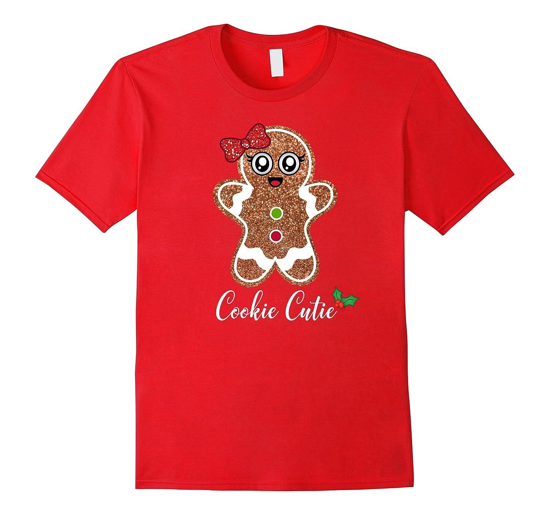 Christmas Cookie Cutie Gingerbread Girl Cute Emoji Shirt-FL