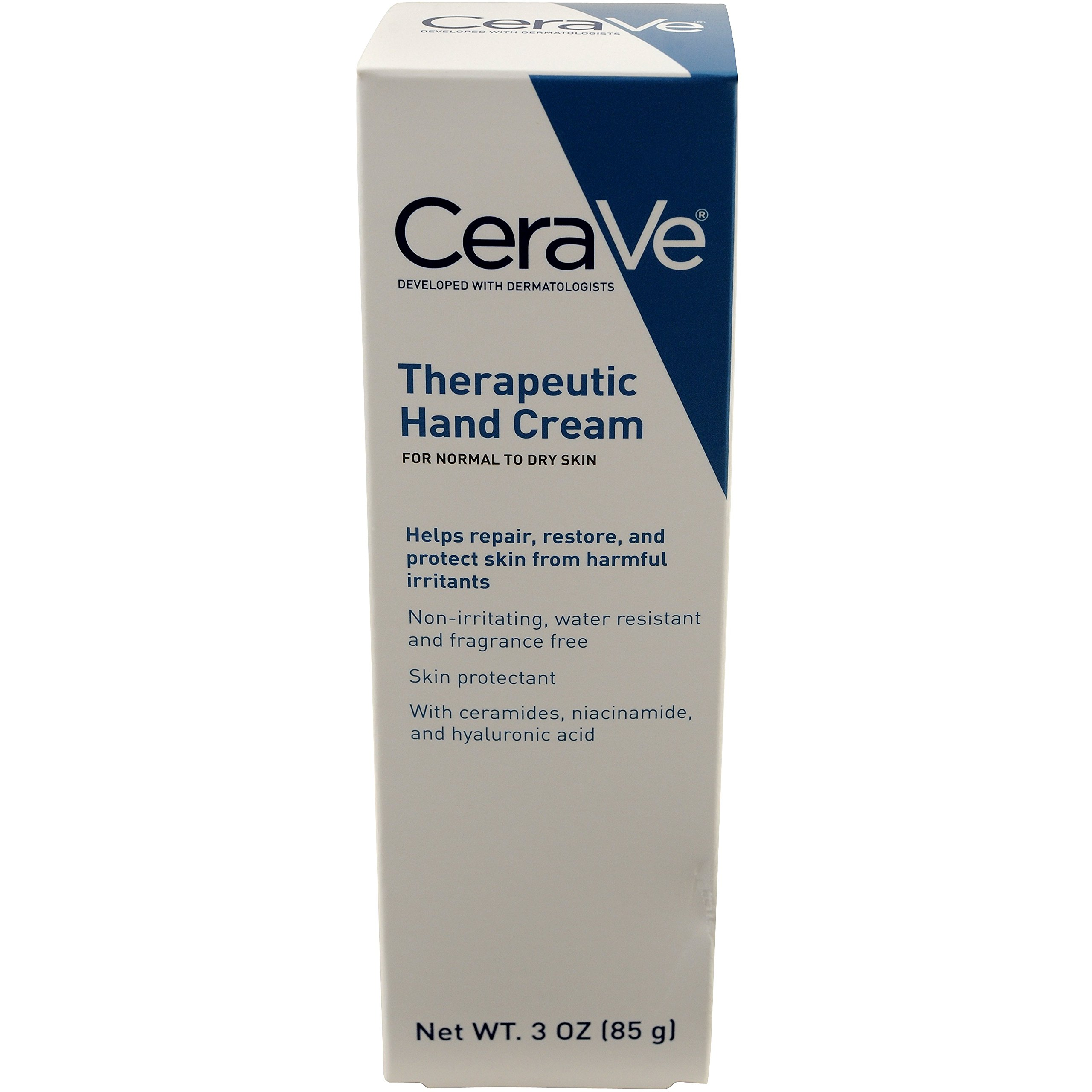 CeraVe Therapeutic Hand Cream 3 oz with Hyaluronic Acid and Ceramides for Skin Protection, Restoration and Repair