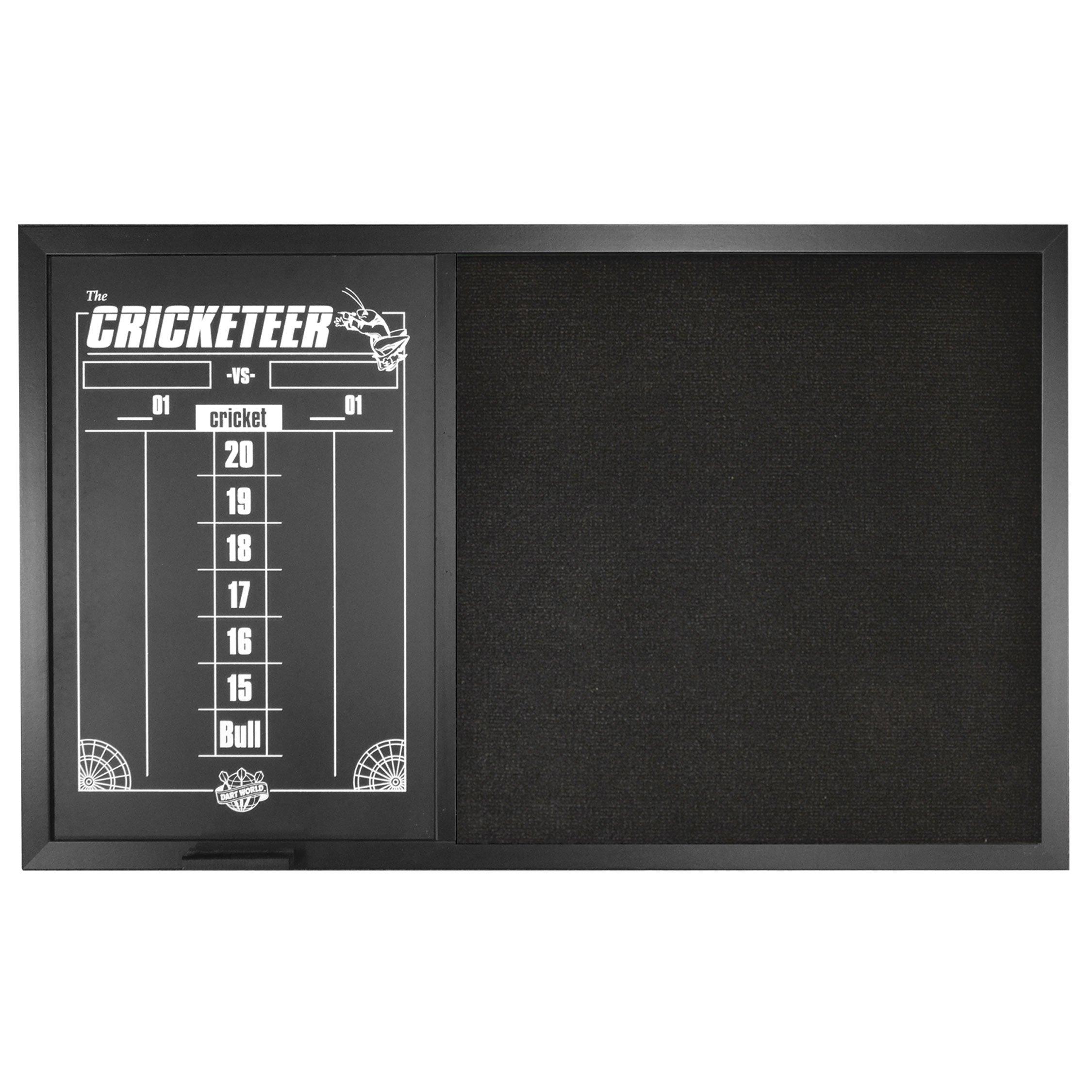 Dart World Combo Backboard Scoreboard, Black