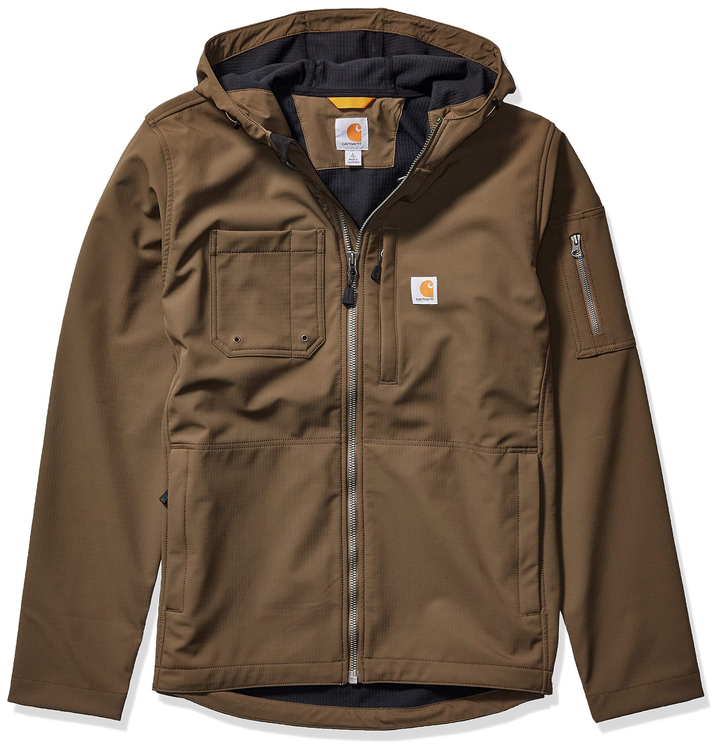 Carhartt Men's Hooded Rough Cut Jacket (Regular and Big & Tall Sizes), Tarmac, Large by Carhartt