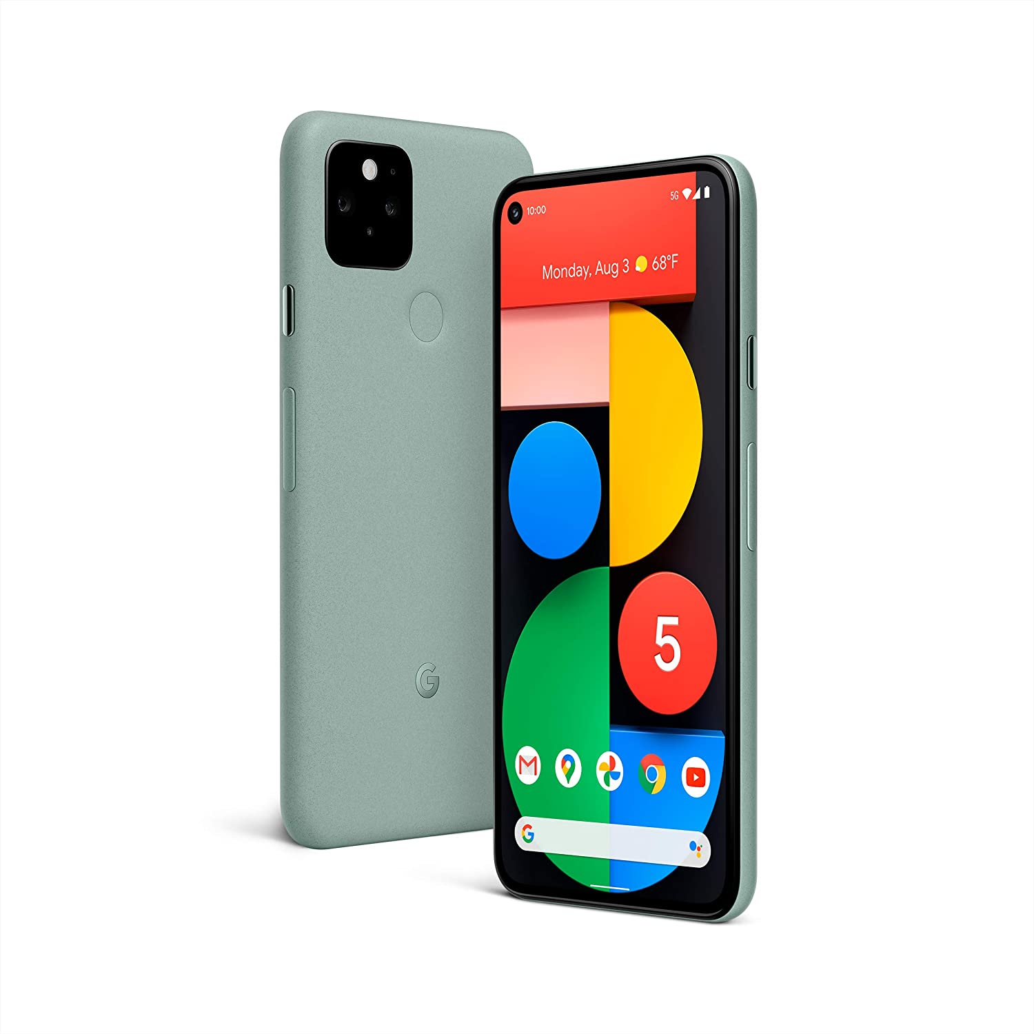 Amazon.com: Google Pixel 5 - 5G Android Phone - Water Resistant - Unlocked  Smartphone with Night Sight and Ultrawide Lens - Sorta Sage