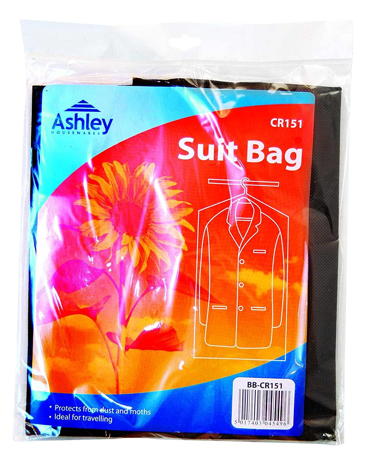 Suit Protector Bag, Protects Against Dust And Moths, Ideal For Travelling Ashley Housewares CR151