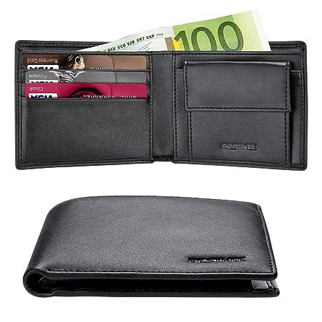 374303e462 Portafoglio Uomo Piccolo Sottile con Porta Carta di Credito e Blocco Rfid Porta  Tessere in Pelle