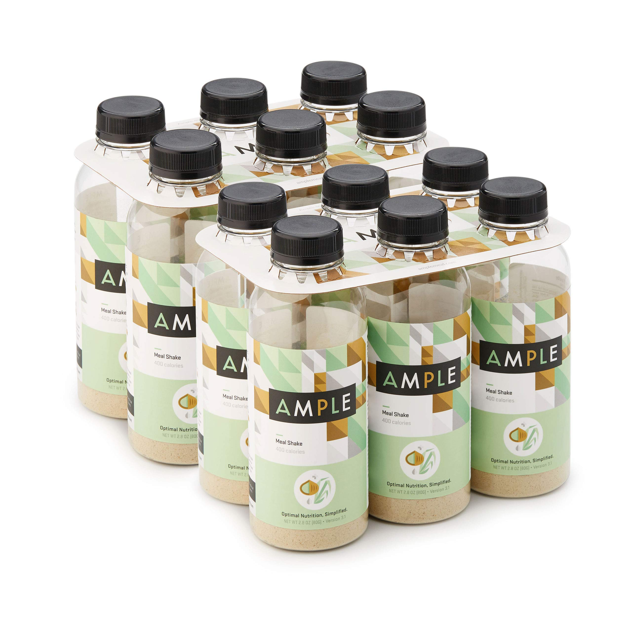 Ample - Meal Replacement Shake in a Bottle, (Pack of 12) Meals, Regular 400 Calories, Made with Natural Real Food Ingredients