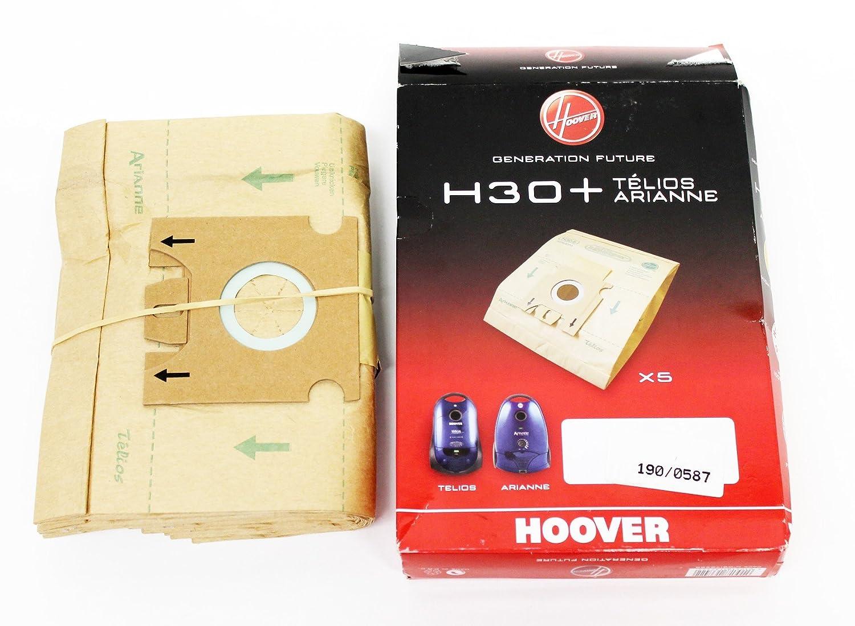 Dorigine Hoover Telios Arianne Cylindre Aspirateur H30 Sac /À Poussi/ère Pack de 5