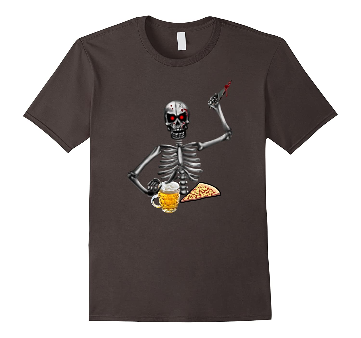 Funny Halloween Skeleton Ghost Horror Haunted House T Shirt-TJ