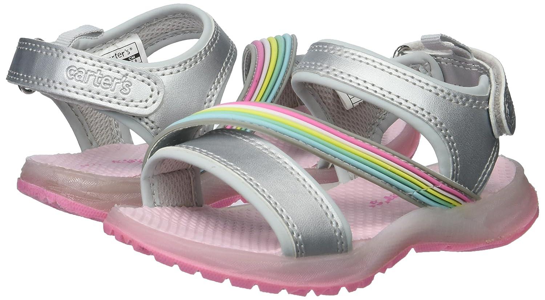 Carters Kids Blondell Girls Light-Up Sandal Silver 4 M US Toddler Carter/'s