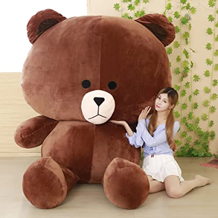 0b2bb8c5996 Amazon.com  YXCSELL Brown Cuddly Super Soft Huge Plush Stuffed Animal Toys  Giant Teddy Bear Toy Doll 67 Inches  Toys   Games