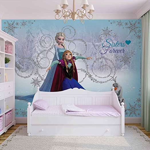 disney wallpaper for bedrooms. Disney Frozen Elsa Anna Olaf  Photo Wallpaper Wall Mural Giant Poster