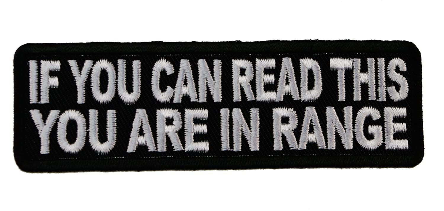 If You can Read this You are Within Range Joke Funny Embroidered Patch D43 by Sujak Military Items   B00DT4YRTO