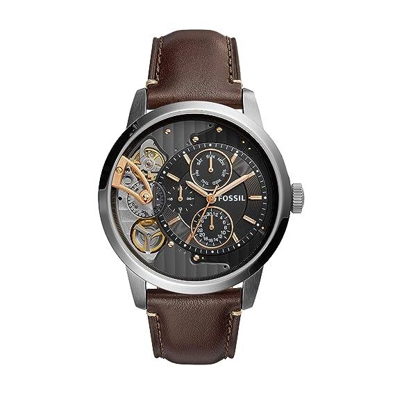 Fossil Reloj para Hombre de Cuarzo con Correa en Cuero ME1163: Amazon.es: Relojes