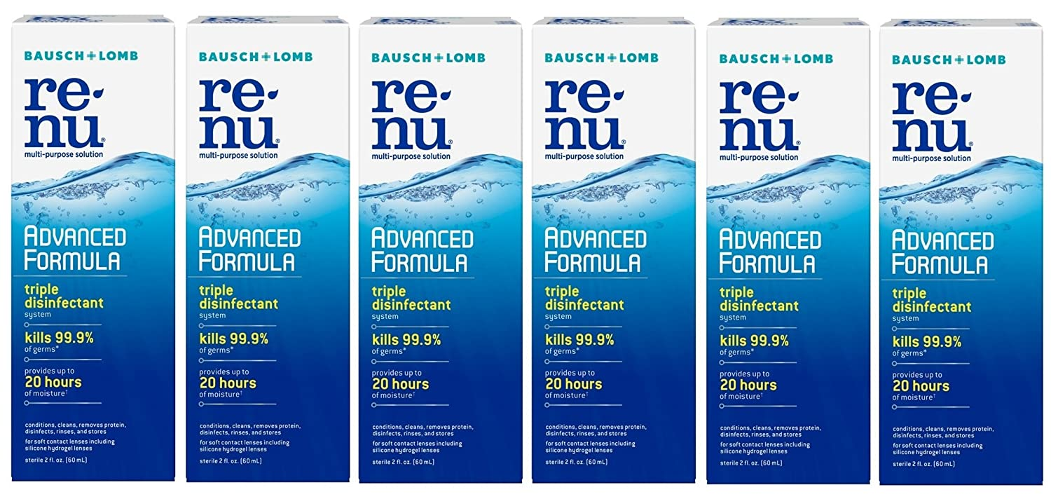 Bausch Lomb Renu Fresh Travel Size All Day Moisture Multi Purpose Eye Contact Lens Solution 2 Fluid Ounces Pack Of 6 Amazon Co Uk Business Industry Science