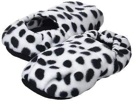 InnovaGoods IG114451 - Zapatillas de casa calentables en microondas estampado dalmata, color damata