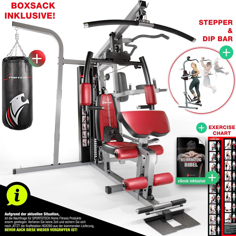 Sportstech 50 en 1 Premium Multiestación (con saco de boxeo)