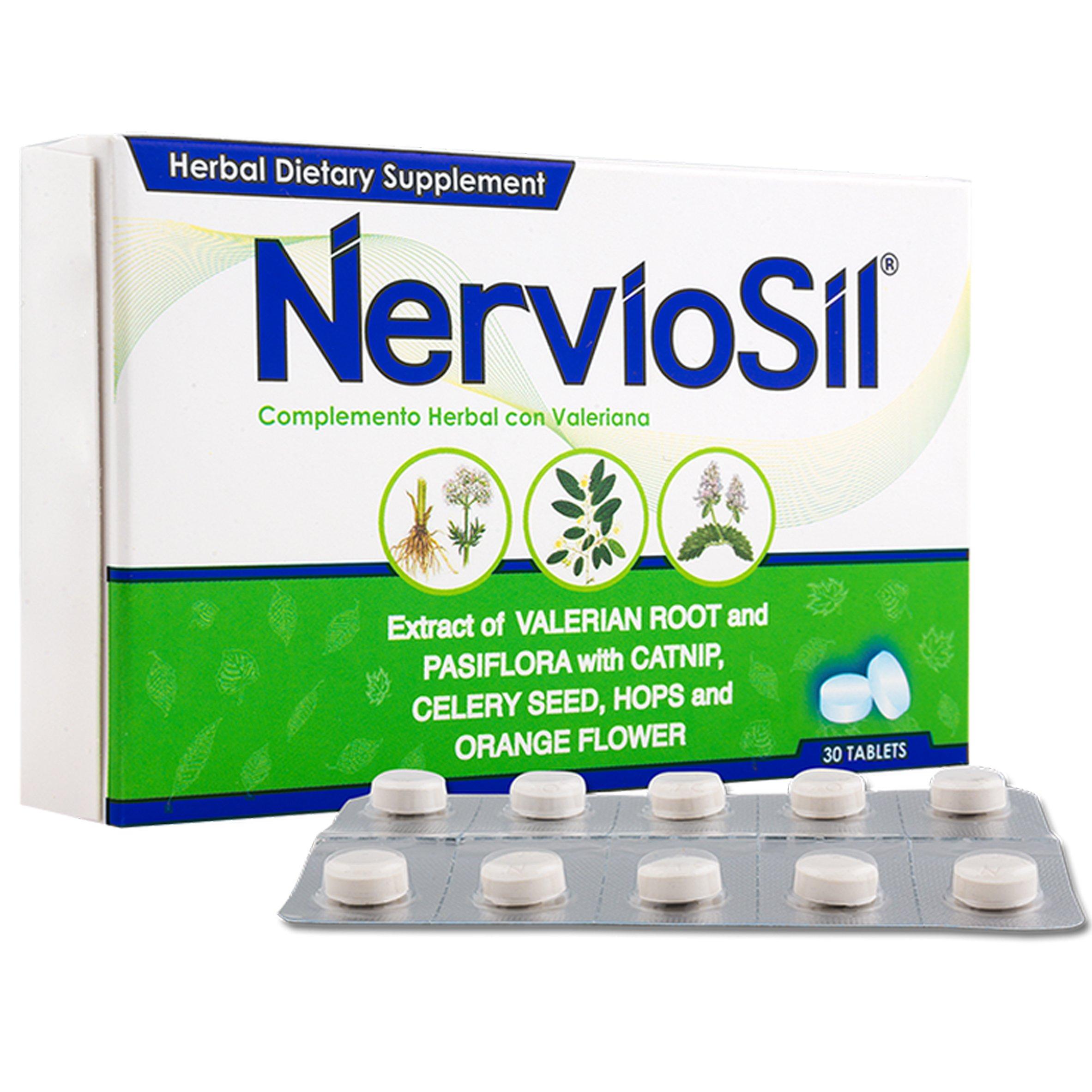 Nerviosil Herbal Supplement, 30 Tablets