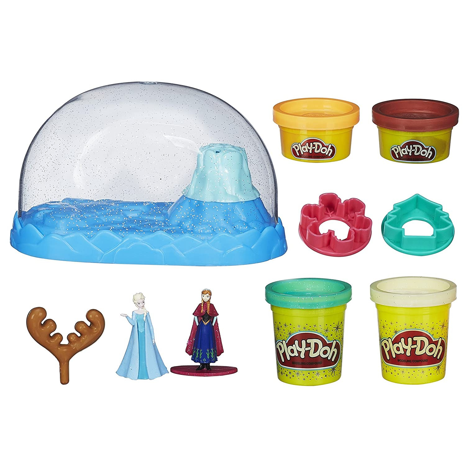Play Doh Sparkle Snow Dome Set Featuring Disney's Frozen