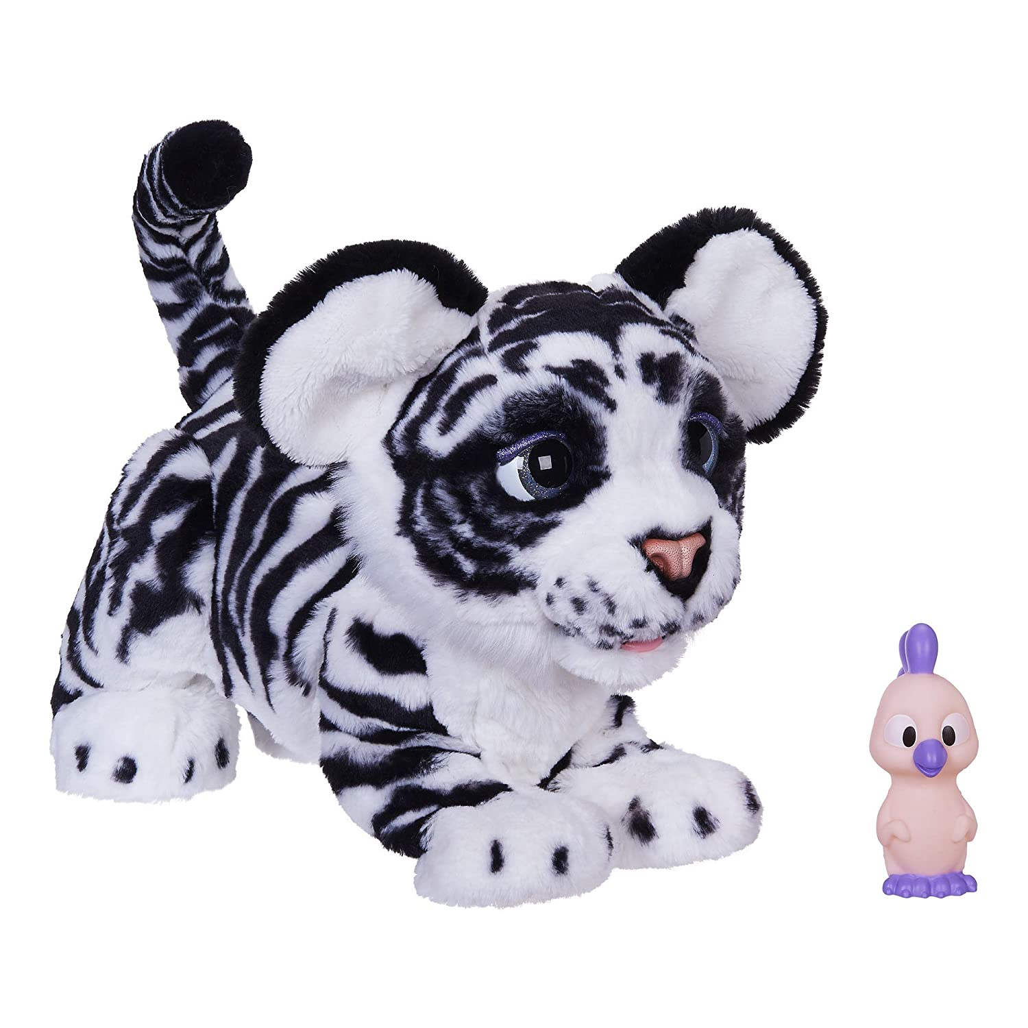 FurReal Roarin' Ivory, The Playful Tiger Interactive Plush Toy, 100+  Sound-&-Motion Combinations, Ages 4 & Up (Amazon Exclusive)