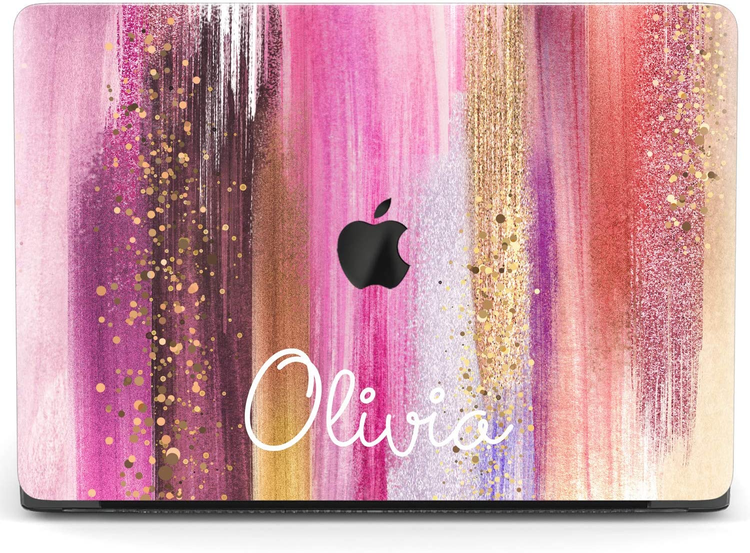 Mertak Hard Case for Apple MacBook Pro 16 Air 13 inch Mac 15 Retina 12 11 2020 2019 2018 2017 Luxury Strokes Laptop Custom Paint Cover Name Plastic Design Fashion Clear Touch Bar Glam Protective