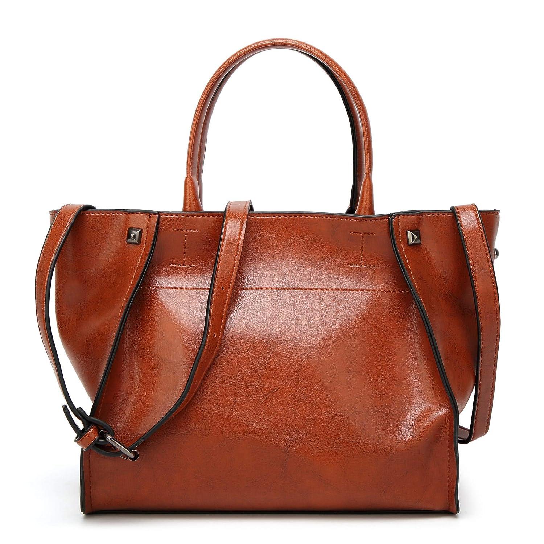 Ateasy HB0000153 tasche damen shopper schultertaschen für damen bucket bag stoff frauen taschen echt leder umhängetasche damen gross henkeltasche schwarz damen handtaschen sale B07JBJDJLQ Damenhandtaschen Adoptieren