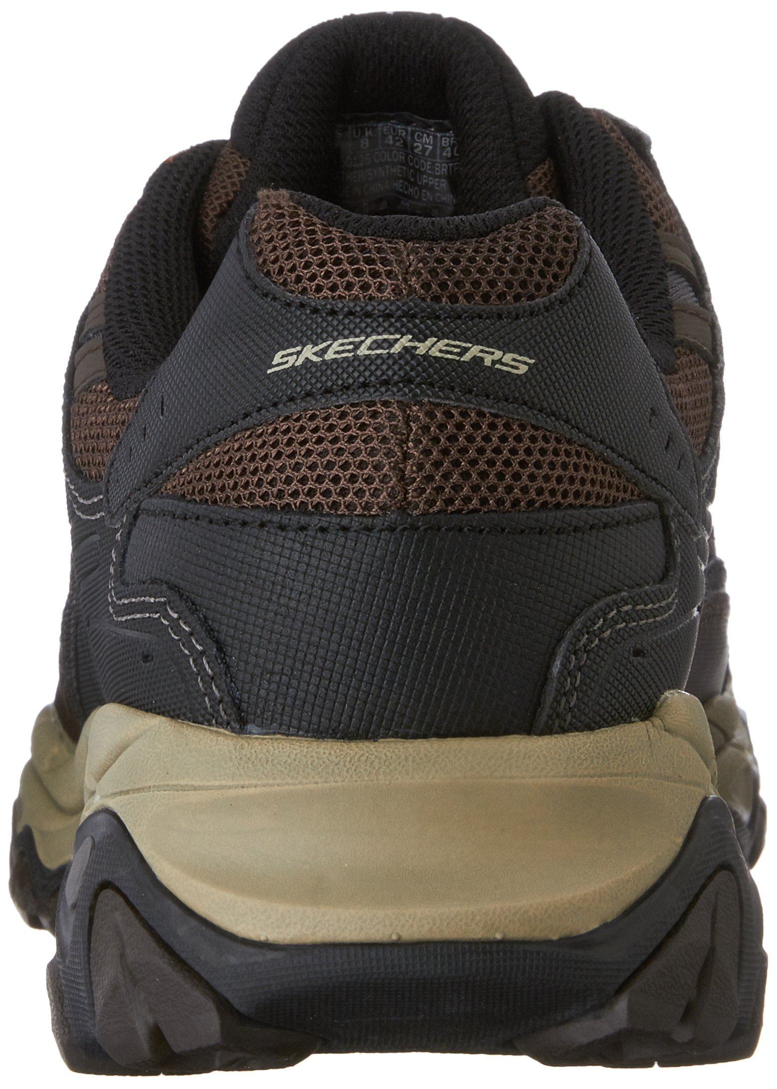 Skechers Men's AFTERBURNM.FIT Memory Foam Lace-Up Sneaker, Brown/Taupe, 7.5 M US by Skechers (Image #2)