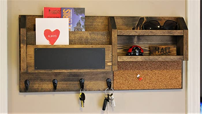 Awesome Home Office, Mail Organizer, Rustic Organizer, Key Holder, Mail Holder, File