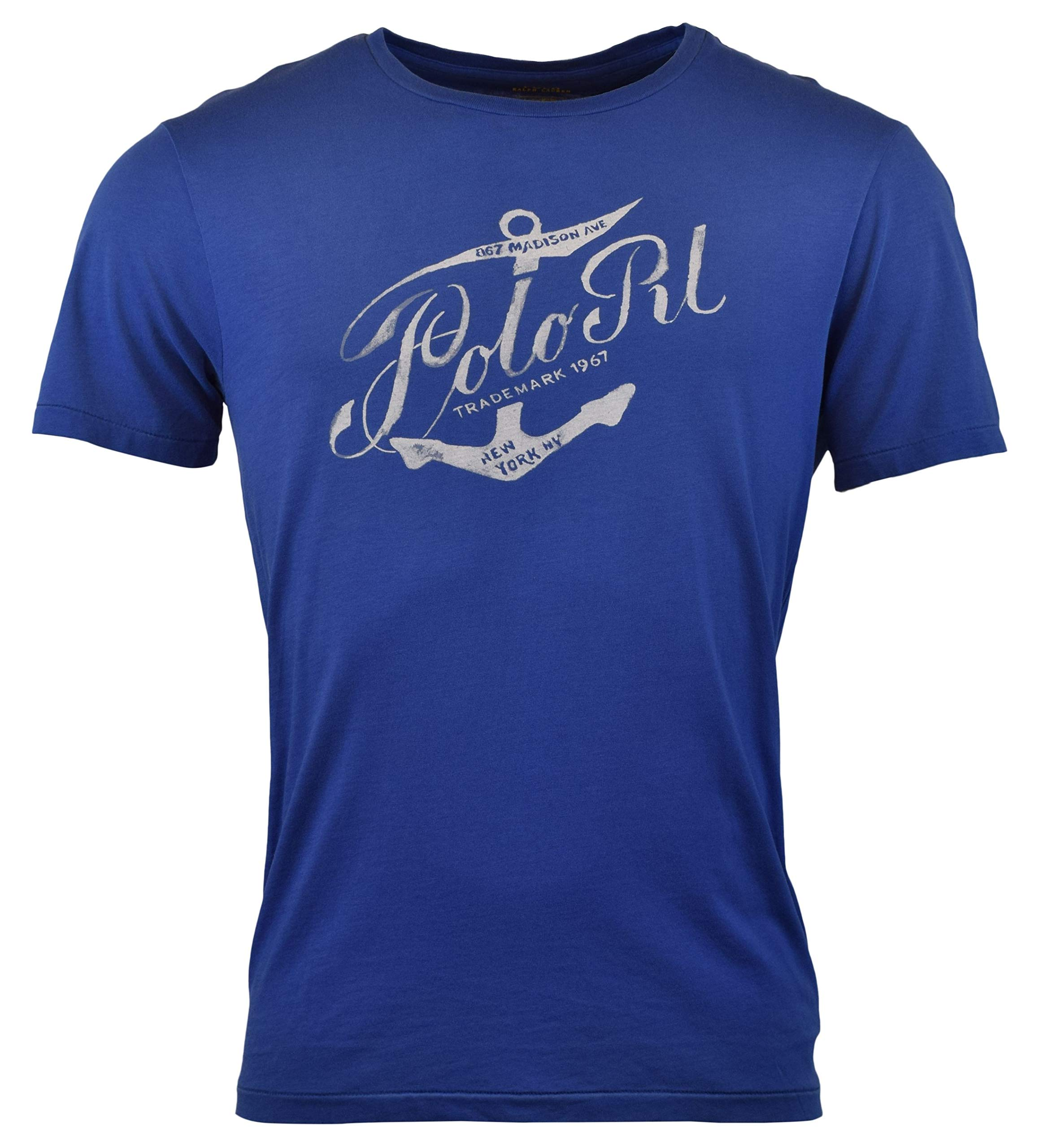 2f8a9d5a7 Galleon - Polo Ralph Lauren Mens Custom Fit Graphic Logo T-Shirt - M - Blue