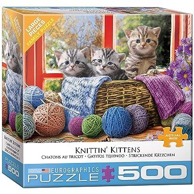 EuroGraphics Knittin' Kittens 500-Piece Puzzle: Toys & Games
