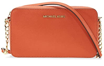 2fc41ac81fb4 Michael Kors Jet Set Travel Medium Crossbody - Orange: Handbags ...