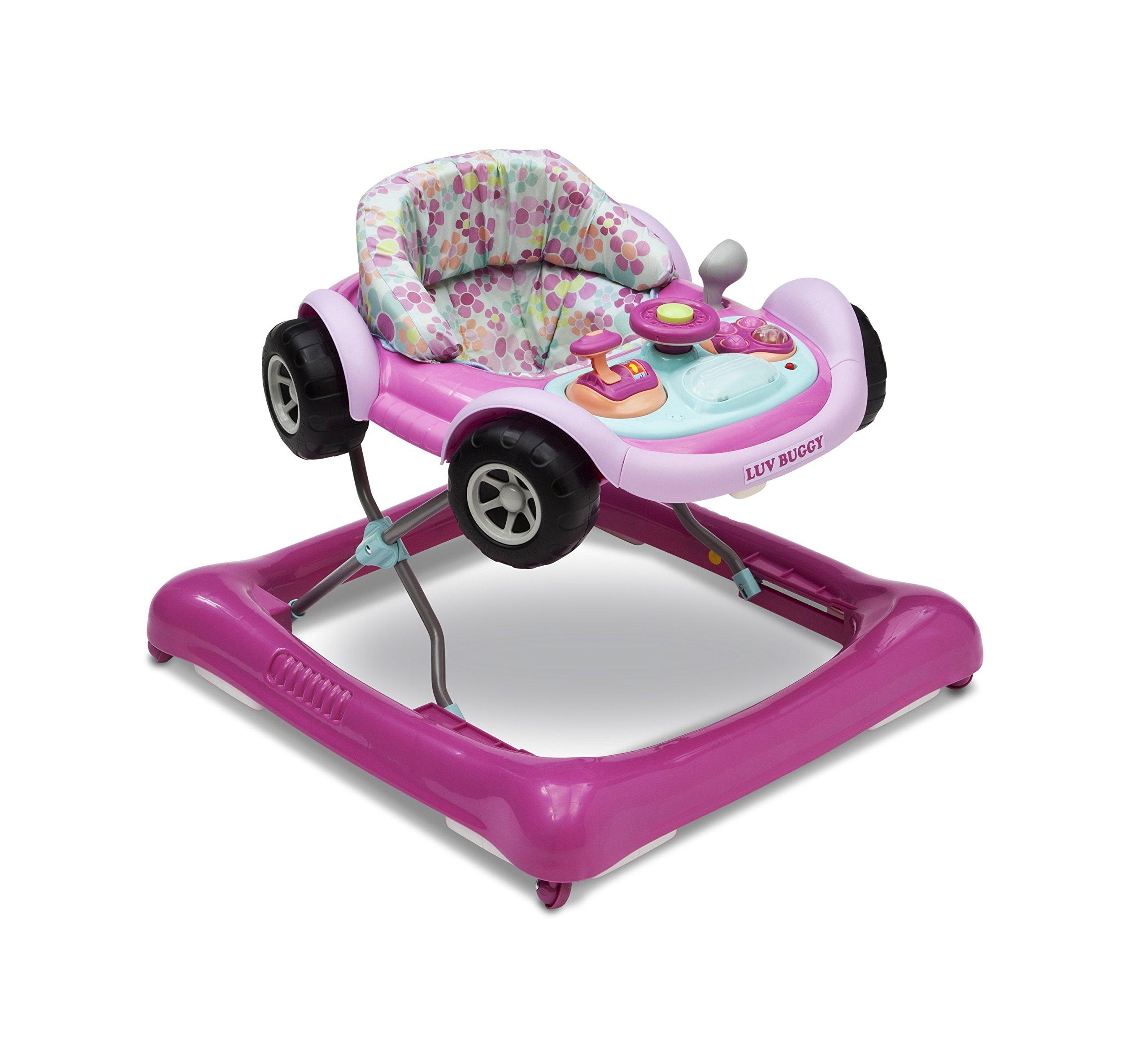 Delta Children Lil' Drive Baby Activity Walker, Pink