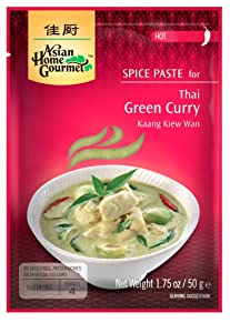 Asian Home Gourmet, Thai Green Curry, 1.75-Ounce Packages (Pack of 12)