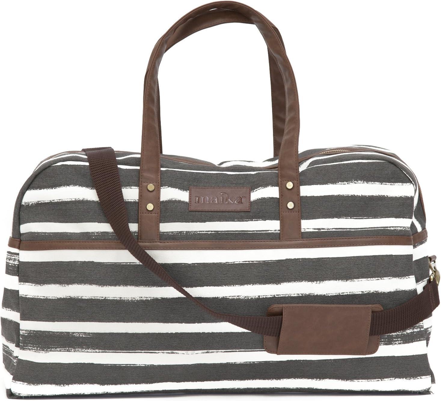 Maika Duffel Bag Stripes Charcoal