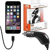 Orzly® - Charge'n'go, caricatore universale da auto per tutti i modelli di iPhone5 (5C/5S/Original iPhone 5), portatile con cavo flessibile e presa per accendisigari da auto con connettore speciale per iPhone 5 adatto a tutti i modelli incluso: iPhone 5S, iPhone 5C a IPhone 5 Original)