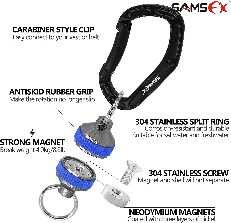 SAMSFX Magnetischer Netzausl/öser f/ür Angeln mit Spiralband