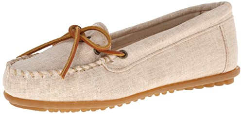 Minnetonka Canvas Moc, Mocasines para Mujer, Beige (Natural), 40 EU: Amazon.es: Zapatos y complementos