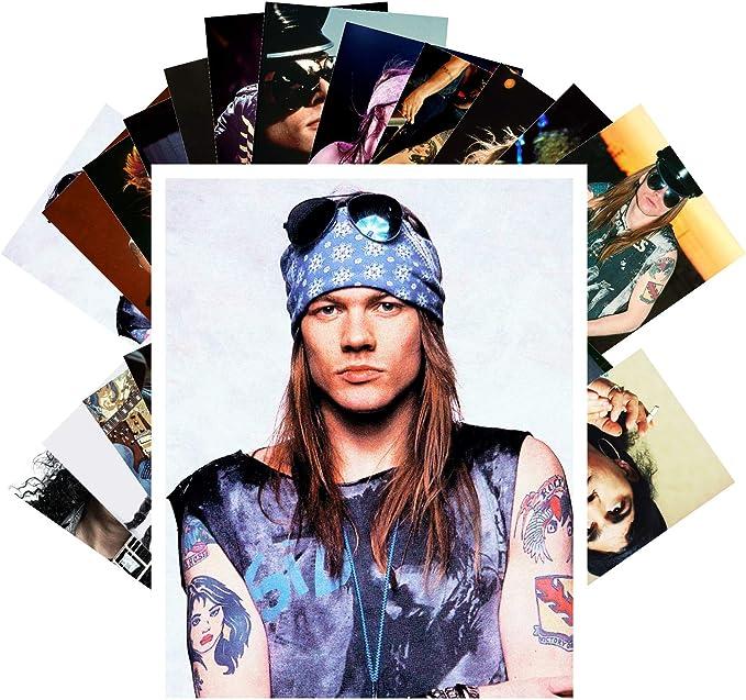 Juego de 24 tarjetas postales Guns N Roses Slash AXL GNR Music Posters Fotos Vintage Magazine Cover: Amazon.es: Amazon.es