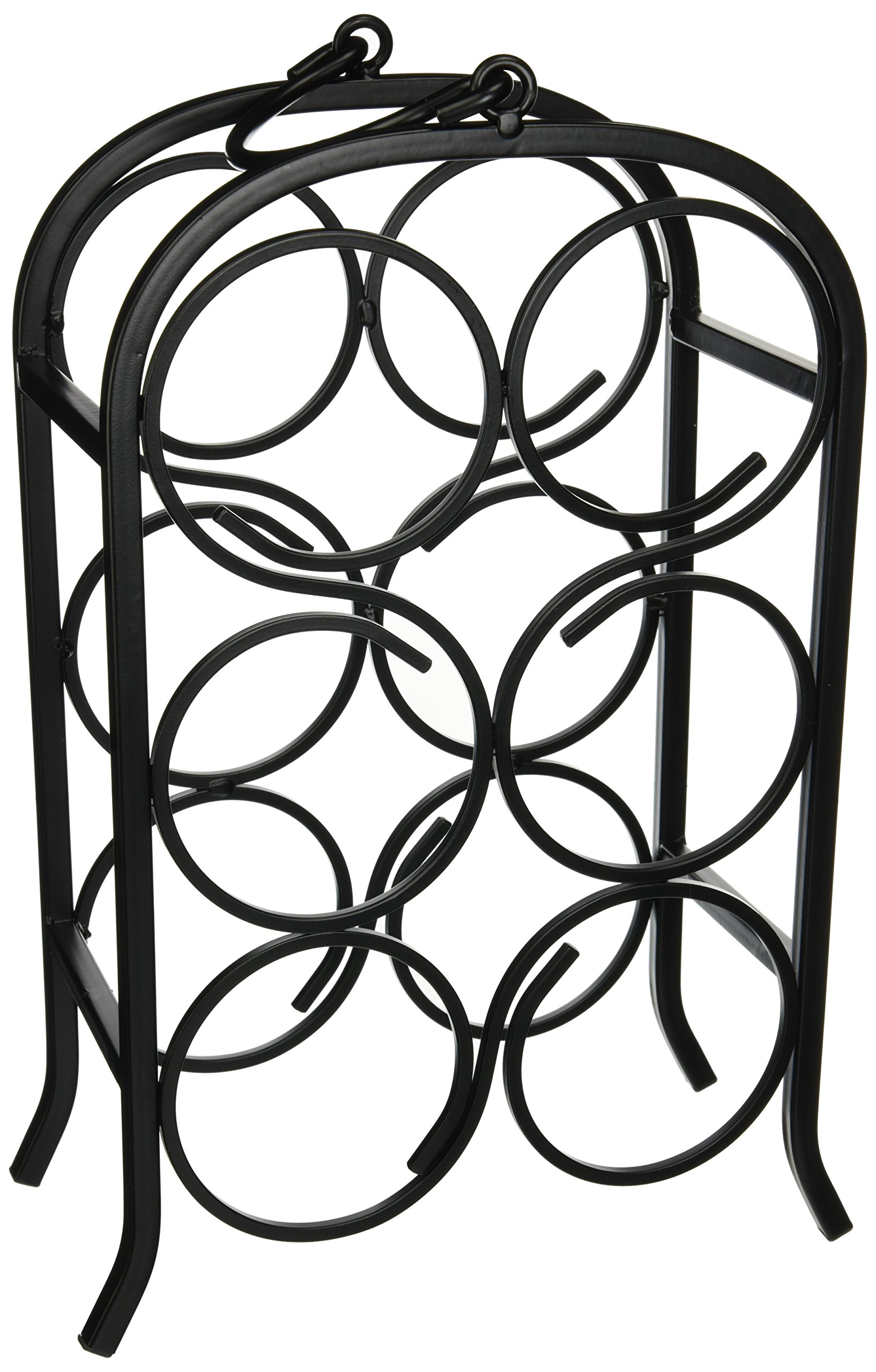 Oenophilia Wine Arch Wine Rack, Free Standing Wine Holder Rack, Countertop, Bar, Wine Cellar, 6 Bottle