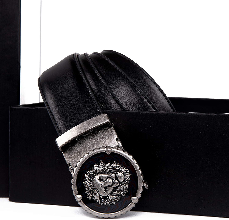 Giovanni Vaninni Ceinture pour homme en cuir véritable avec boucle automatique Black2081