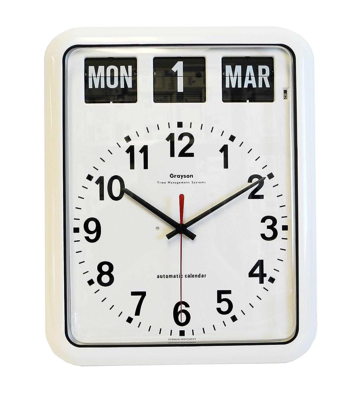 Amazon.com: White \'Perpetual\' Calendar Clock - G239A: Appliances