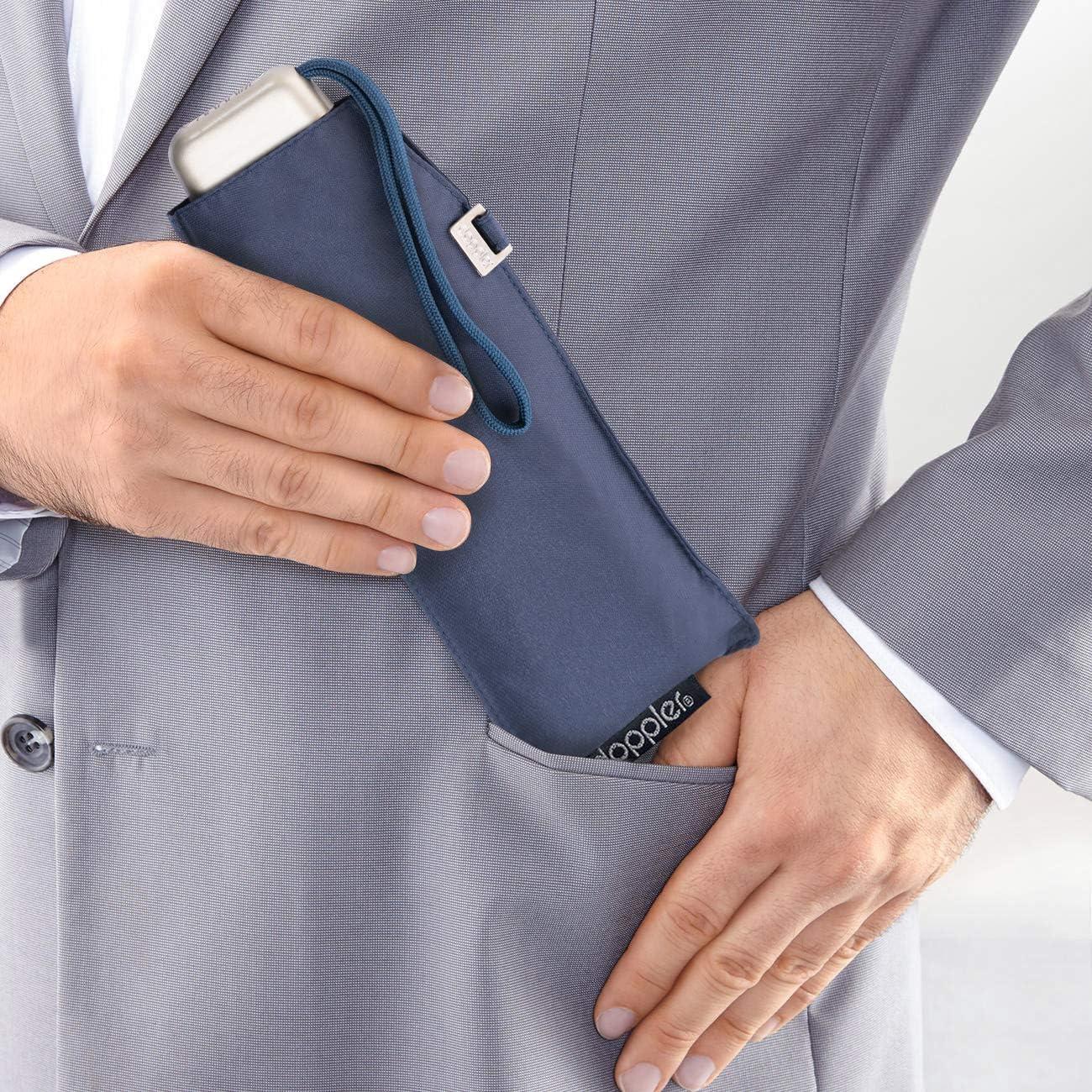 Doppler Parapluie de poche en acier-carbone Ultra l/éger 22 cm Couleur unie