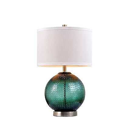 Amazon.com: Catalina ORB lámpara de mesa de vidrio con lino ...