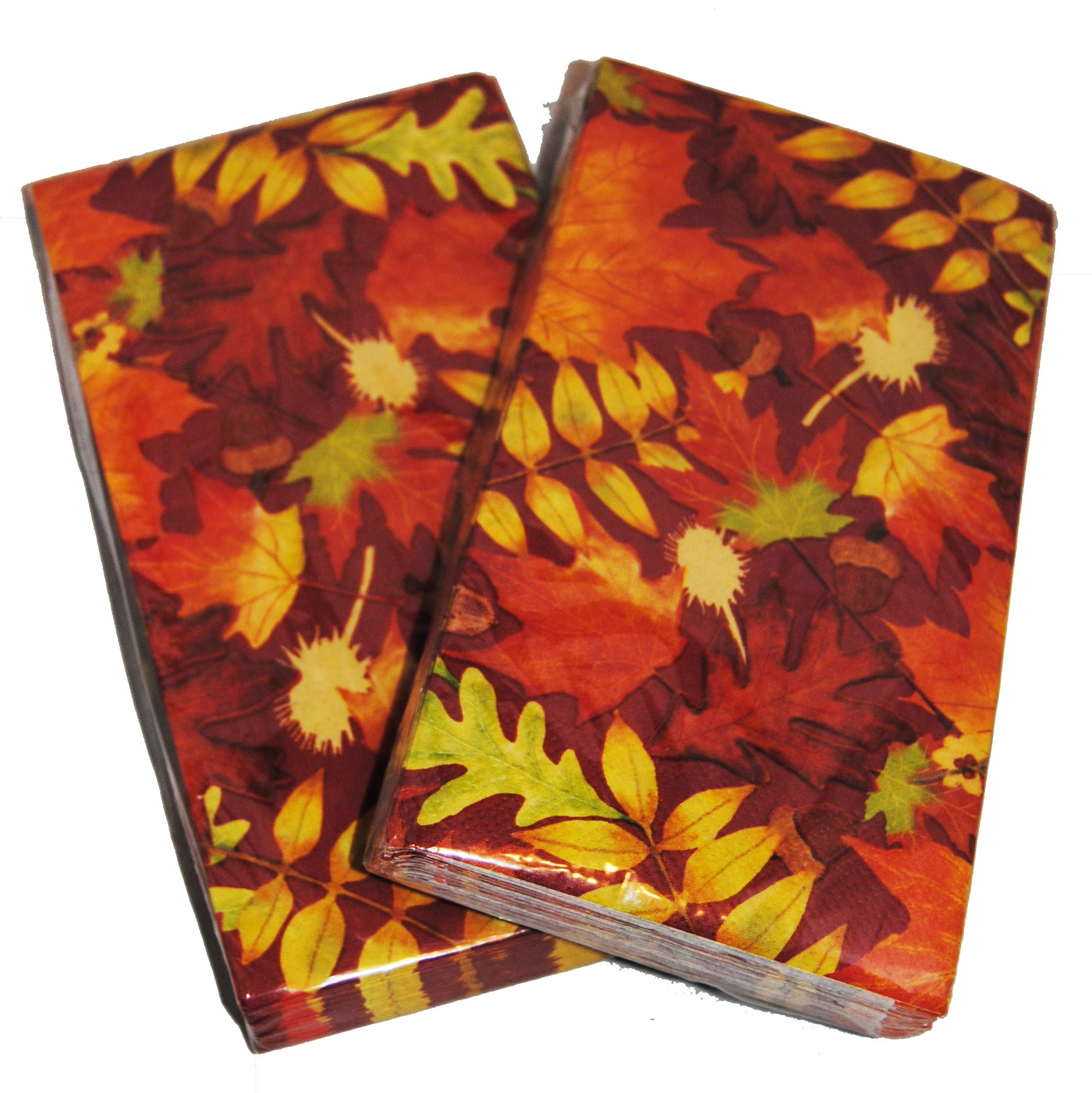 Autumn Leaves Buffet Napkins Guest Towels 40 Count (Real Leaves)