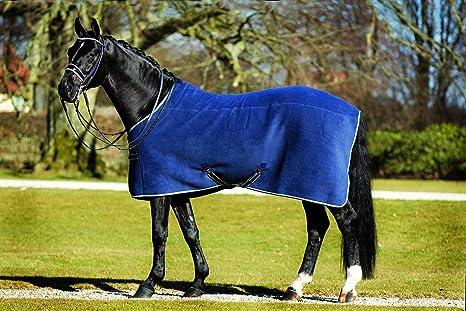Rambo Manto para caballos, en lujoso tejido polar., Marino