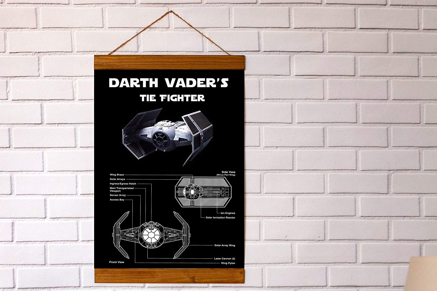 Ready To Be Framed! Patent Print Star Wars Tie Fighter 2 Art Prints