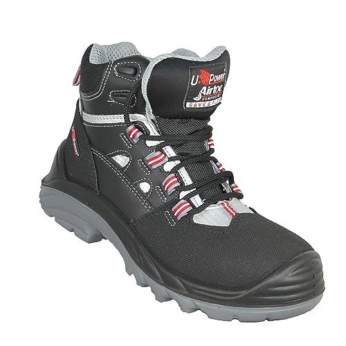 U de Power Cross S3 Src – Calzado de Seguridad Senderismo Zapatos de Alto Negro B