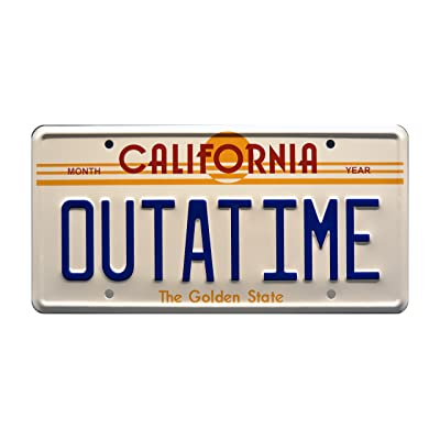 Celebrity Machines Back to The Future | Delorean | Outatime | Metal Stamped Vanity Prop License Plate: Automotive
