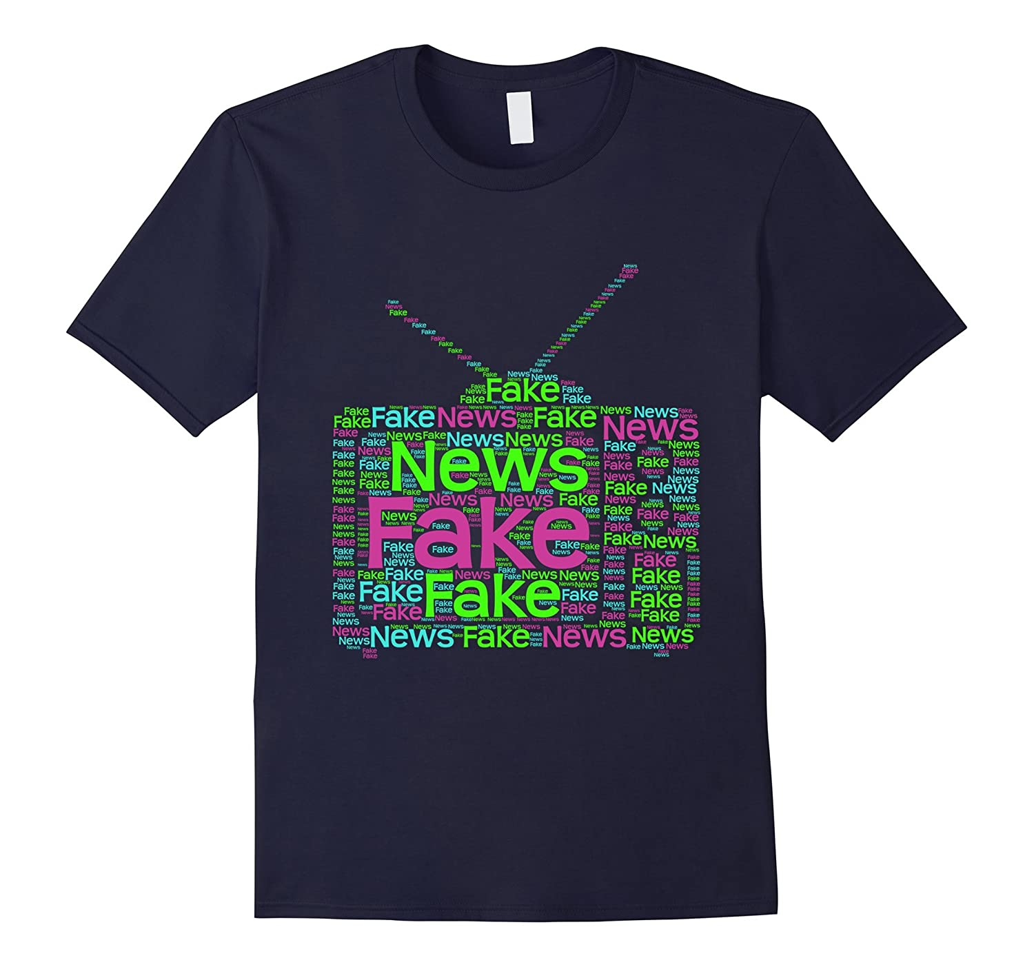 Fake TV News Shirt - Trump Quotes - Word Art T-Shirt-FL