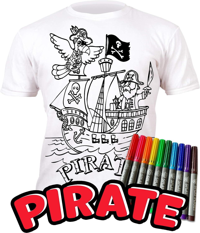 Splat Planet Camiseta FÚTBOL niño. con preimpresión para Pintar y Colorear. Se suministra Junto a Seis lápices de Colores Magic Lavables. Regalo de cumpleaños niños; Ocio; Juego Creativo para Regalo.: Amazon.es: Ropa