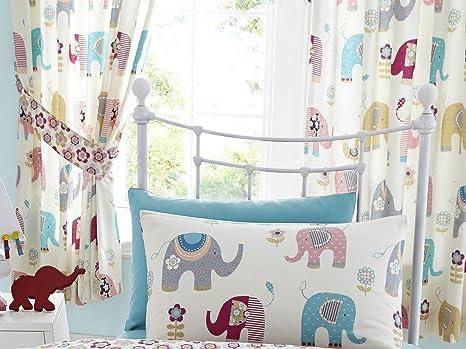 Kids club tende per camera bambini fantasie con elefanti e